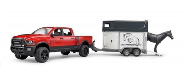 Dodge Power Wagon met paard en paardentrailer (02501)