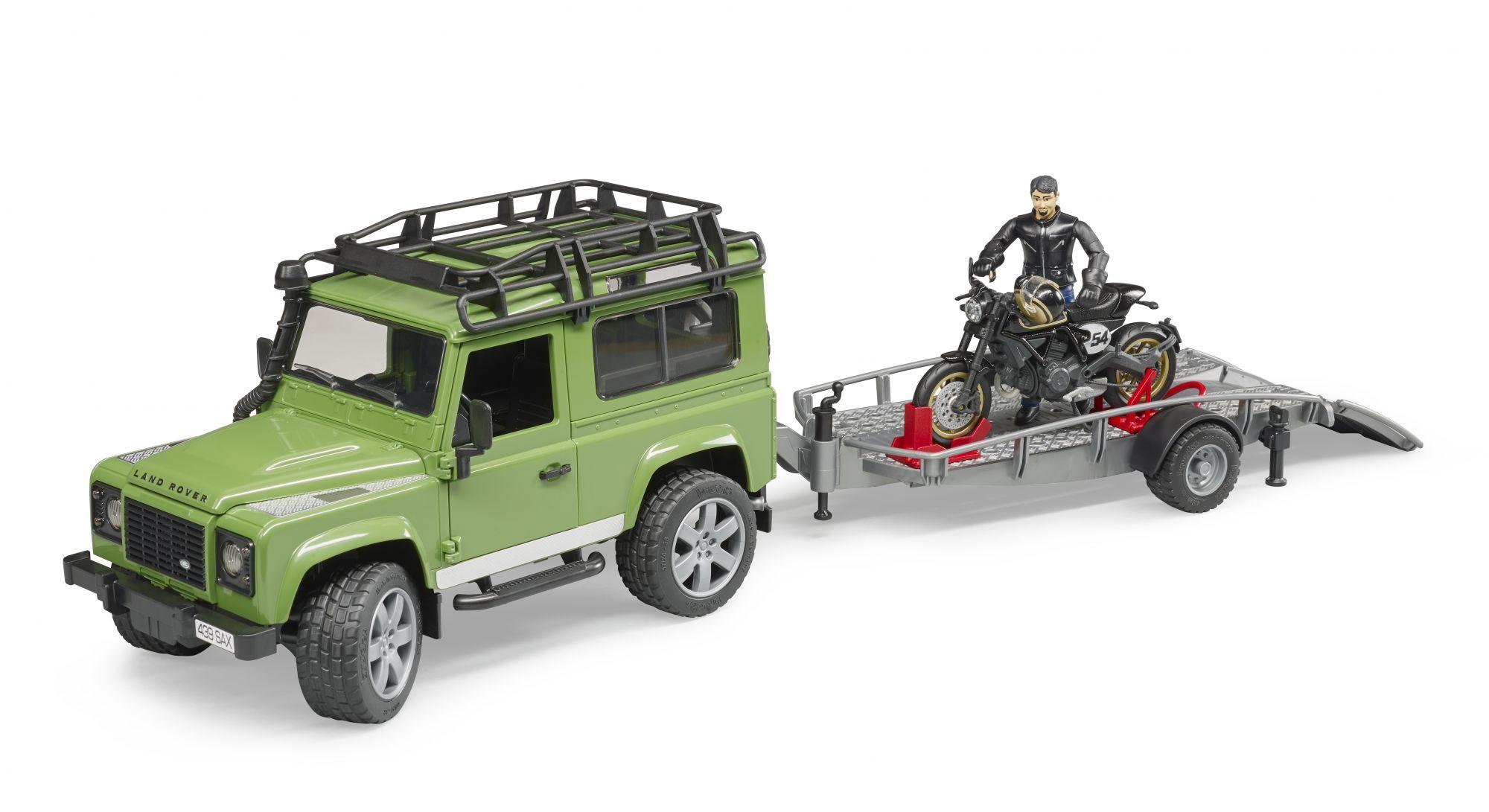 Bruder 02598 - Land Rover met aanhanger en Ducati motor
