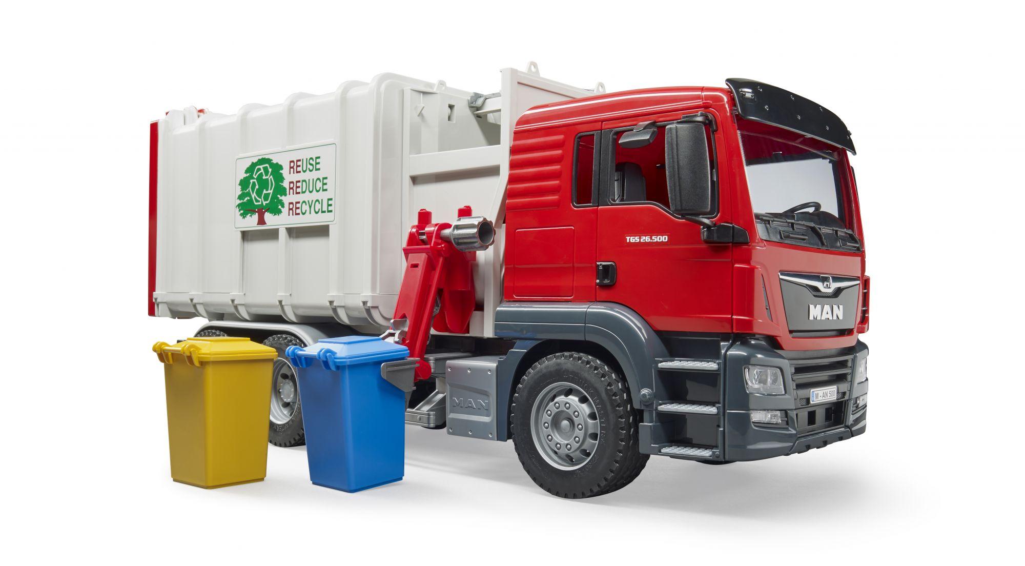 MAN TGS vuilniswagen met zijlader 3 - Bruder