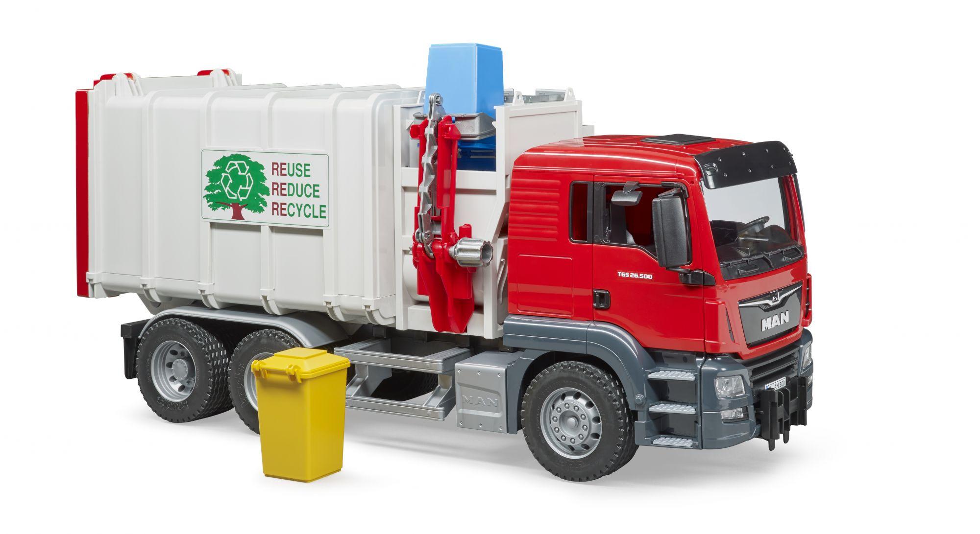 MAN TGS vuilniswagen met zijlader 2