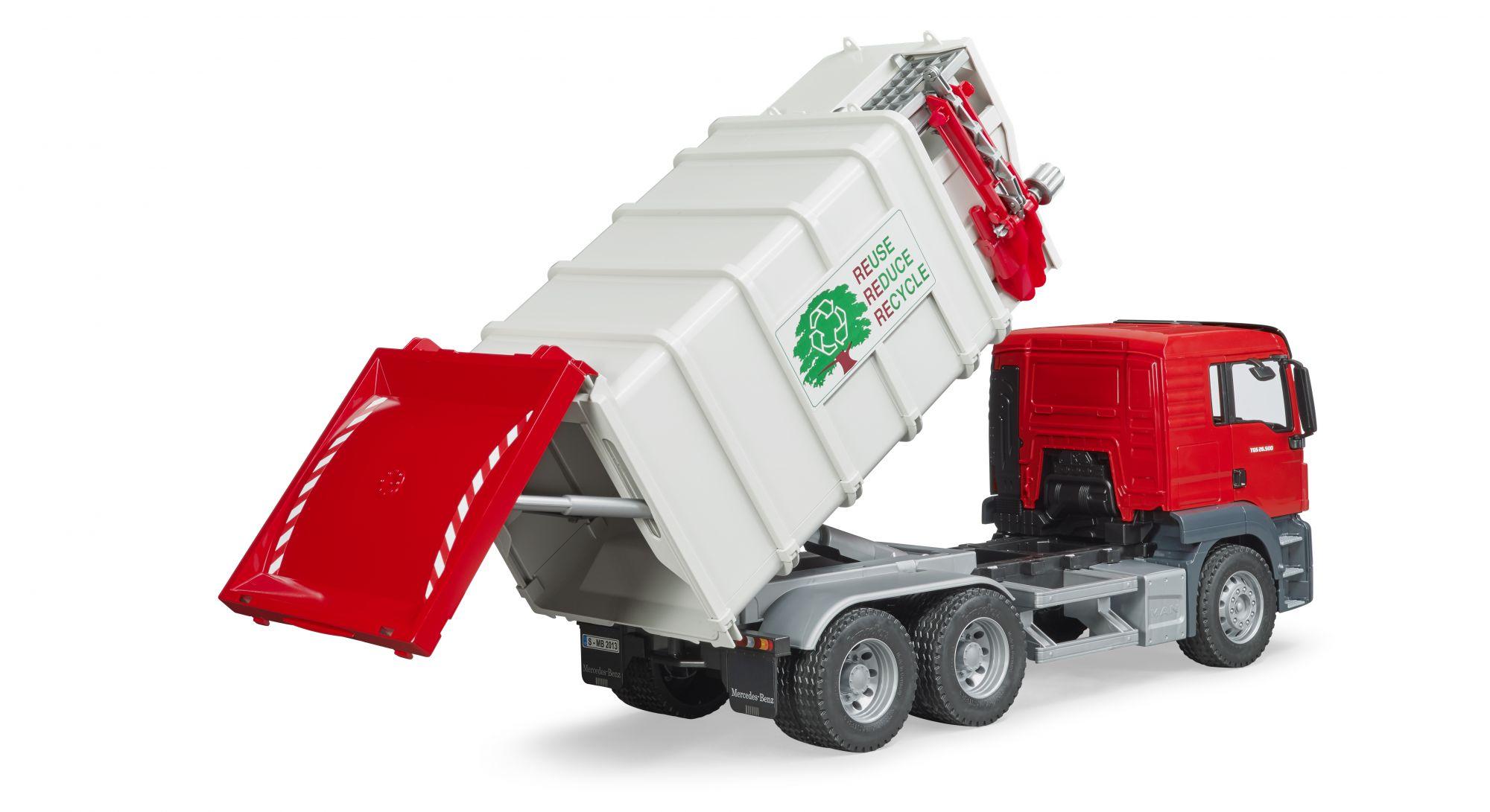 MAN TGS vuilniswagen met zijlader 4 - Bruder
