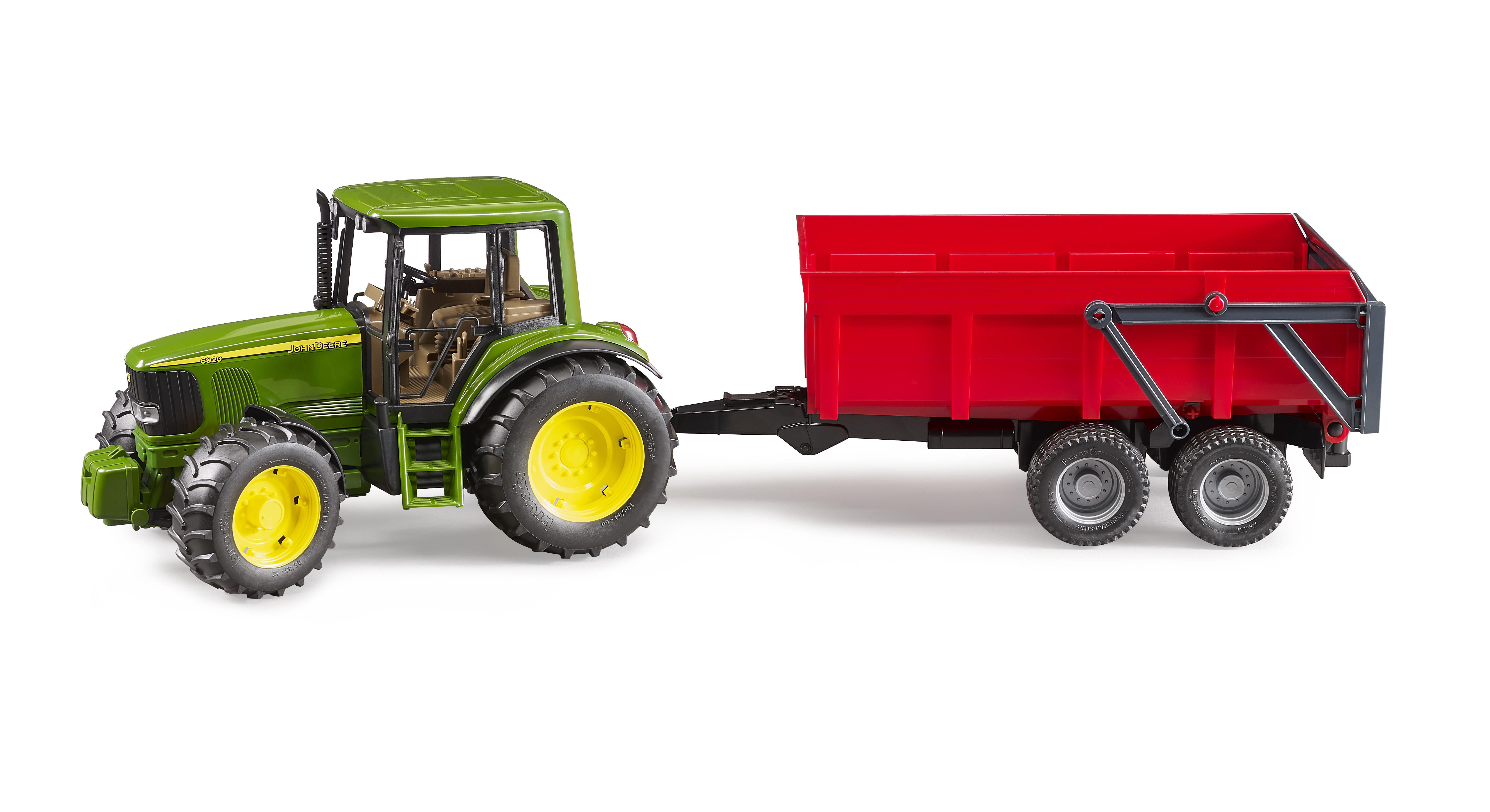 02057 - Tractor met rode aanhanger