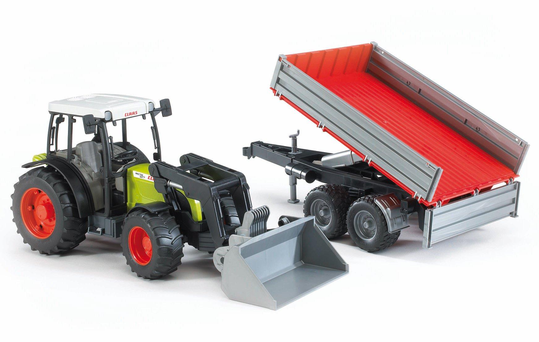 Claas Nectis tractor met aanhanger (02212)