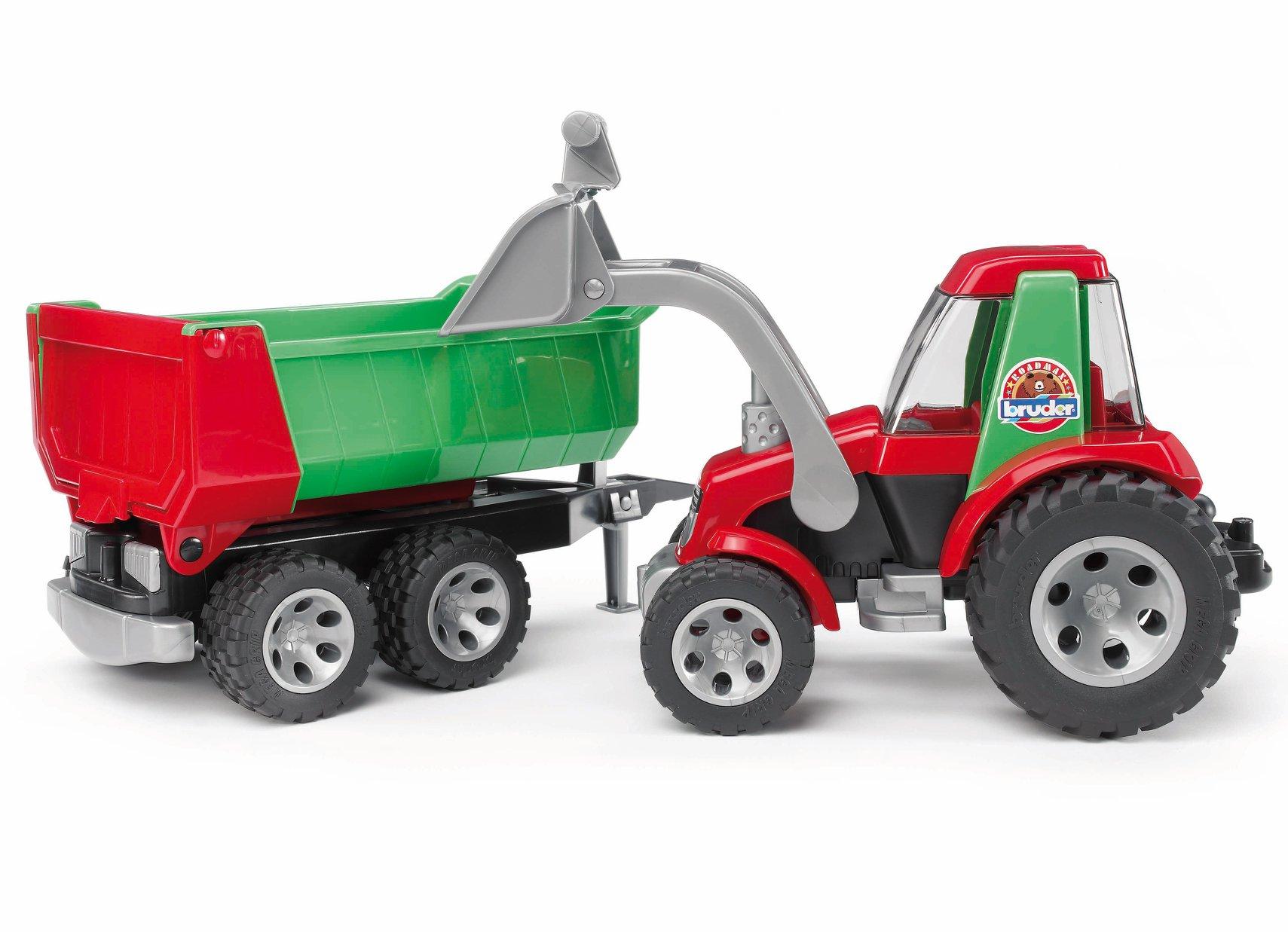 Bruder RoadMax tractor met aanhanger (20116)
