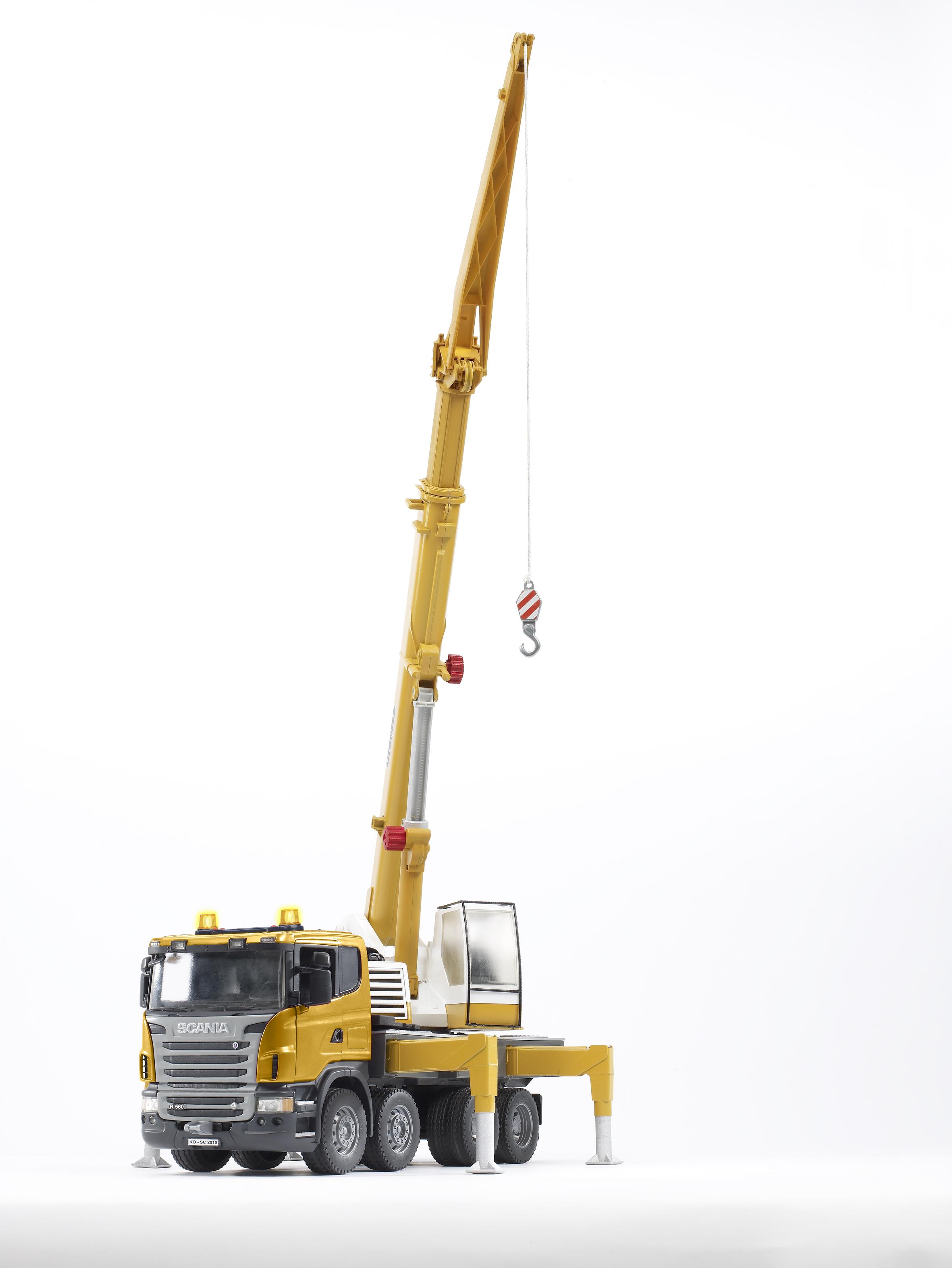 Bruder Scania Liebherr Hijskraan (03570) - 2