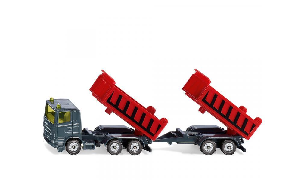 Siku 1685 - Vrachtwagen met kantelbare bak en kiepaanhanger