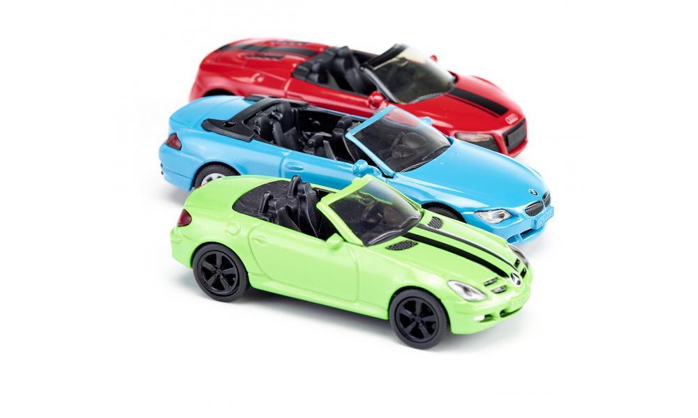 Set van 3 cabrio sportwagens 6314