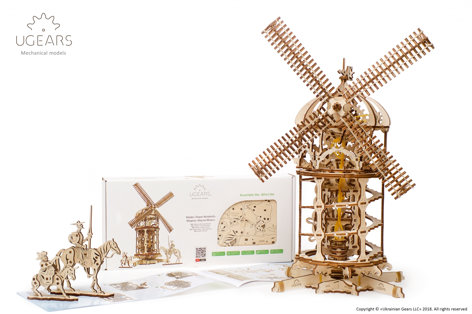 Ugears modelbouw Tower Windmill - Molen